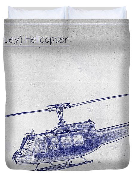 Bell Uh-1h Huey Helicopter  Duvet Cover