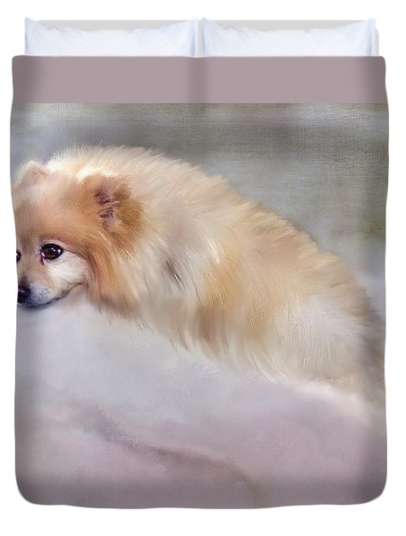 Bella Boo Duvet Cover by Colleen Taylor