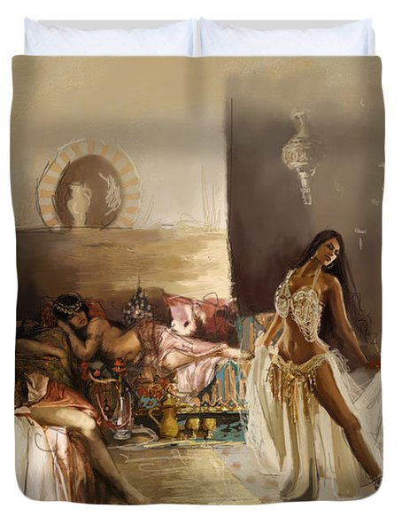 Belly Dancer Lounge Duvet Cover by Corporate Art Task Force