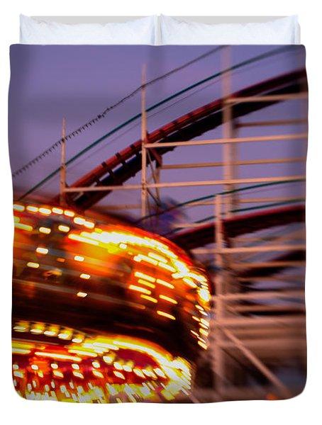 Did I Dream It Belmont Park Rollercoaster Duvet Cover