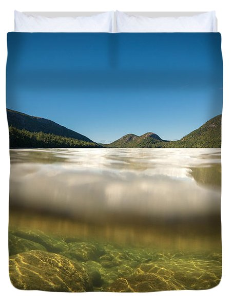 Below The Surface Of Jordan Pond Duvet Cover