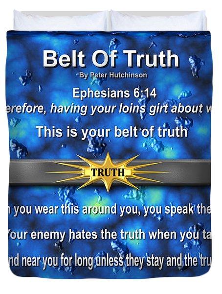 Belt Of Truth Duvet Cover