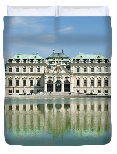 Duvet Cover featuring the photograph Belvedere Palace by Jeremy Voisey