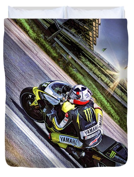 Ben Spies At Indy Duvet Cover