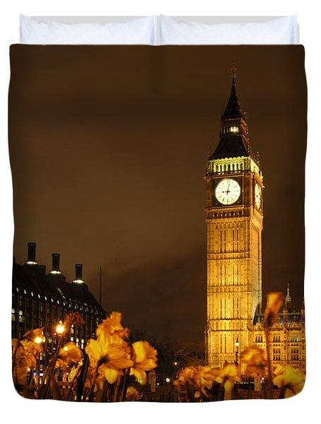 Ben With Flowers Duvet Cover by Mike McGlothlen