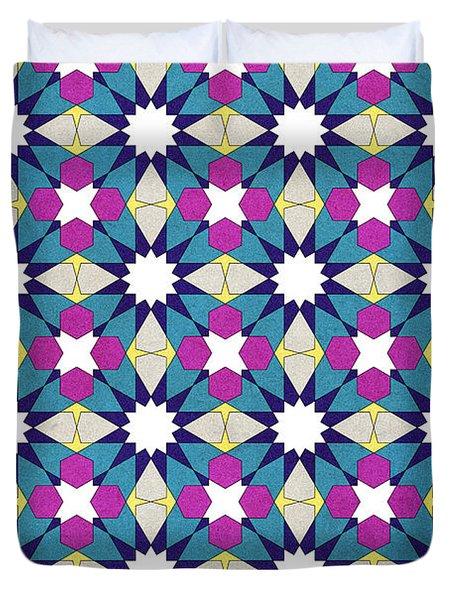 Ben Yusuf Madrasa Geometric Pattern 1 Duvet Cover by Hakon Soreide