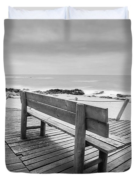 Bench With Swirl Duvet Cover