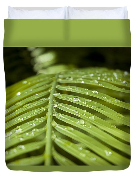 Duvet Cover featuring the photograph Bending Ferns by Carolyn Marshall