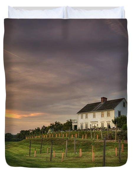 Beneath An Evening Sky Duvet Cover by Evelina Kremsdorf