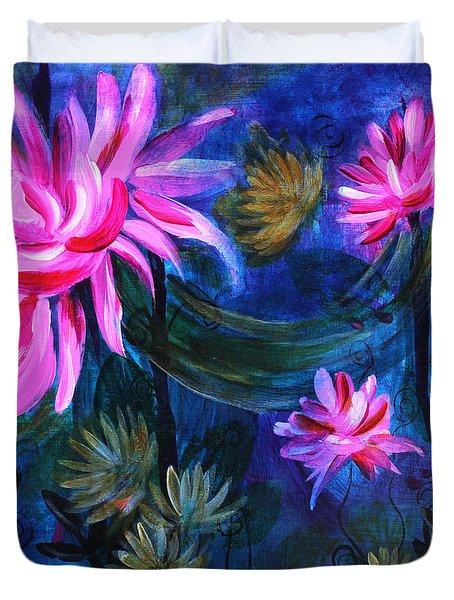 Beneath Dark Lotus Waters Duvet Cover