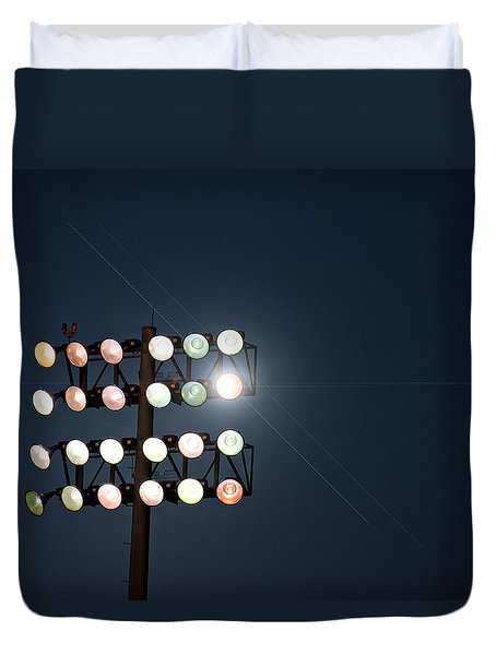 Beneath Friday Night Lights Duvet Cover