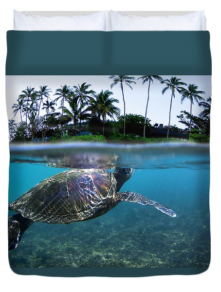 Beneath The Palms Duvet Cover