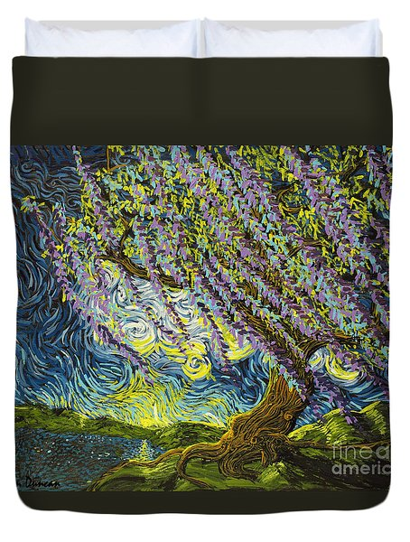 Beneath The Willow Duvet Cover