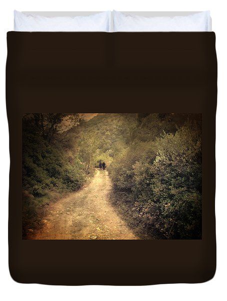 Beneath The Woods Duvet Cover by Taylan Apukovska