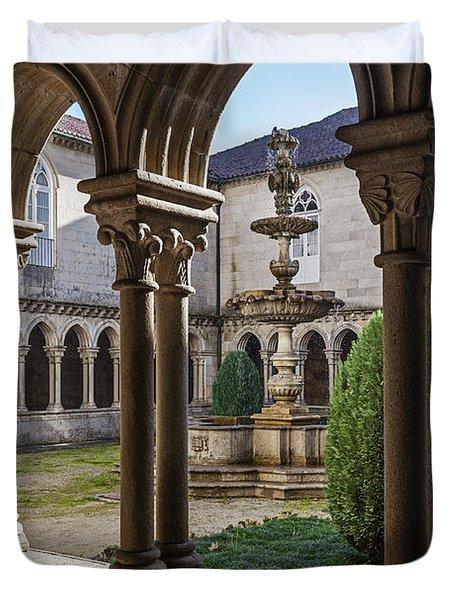 Benedictine Gothic Cloister Duvet Cover by Jose Elias - Sofia Pereira