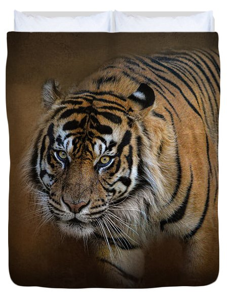 Bengal Stare Duvet Cover by Jai Johnson