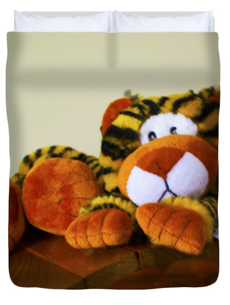 Bengal Tiger Abstract  Duvet Cover by Barbara Snyder