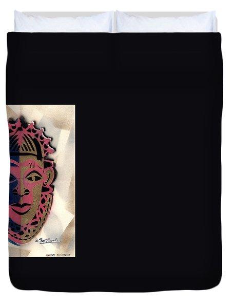 Benin Mask Duvet Cover