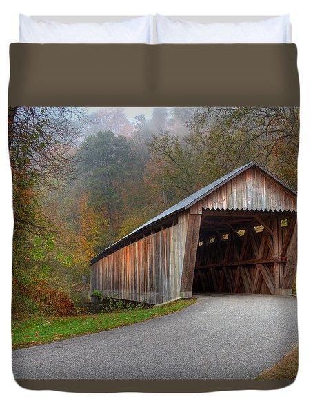 Bennett Mill Covered Bridge Duvet Cover by Jack R Perry