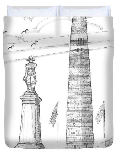 Bennington Battle Monuments Duvet Cover