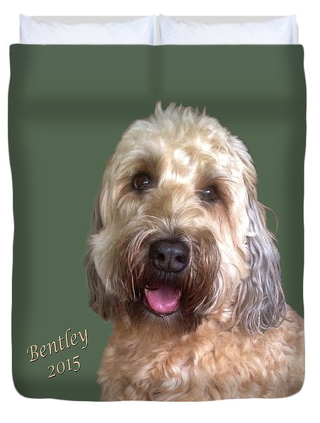 Duvet Cover featuring the photograph Bentley by Karen Zuk Rosenblatt