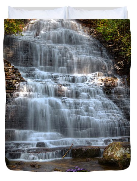 Benton Falls In Spring Duvet Cover