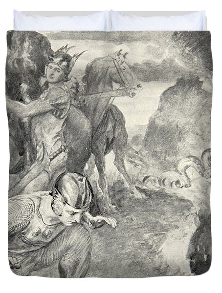 Beowulf Finds The Head Of Aschere Duvet Cover