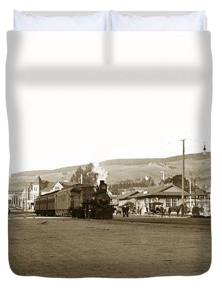 Berkeley California Train Station Circa 1902 Duvet Cover
