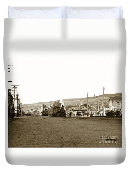 Berkeley California Train Station Circa 1902 Duvet Cover