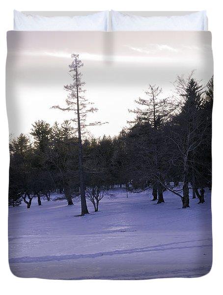 Berkshires Winter 5 - Massachusetts Duvet Cover by Madeline Ellis