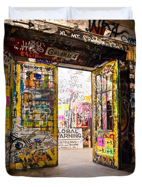 Berlin - The Kunsthaus Tacheles Duvet Cover by Luciano Mortula