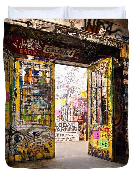 Berlin - The Kunsthaus Tacheles Duvet Cover