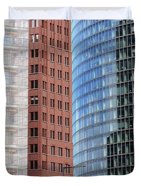 Berlin Buildings Detail Duvet Cover
