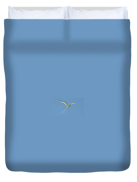 Bermuda Longtail In Flight Duvet Cover by Jeff at JSJ Photography