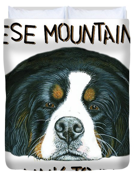 Bernese Mountain Dog Paradise Duvet Cover by Liane Weyers