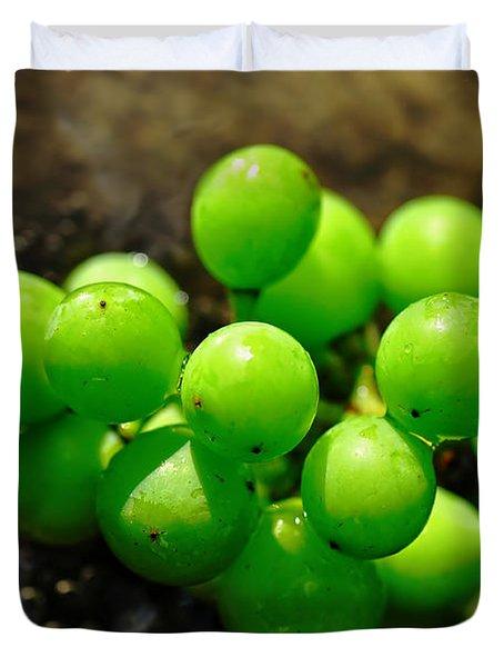 Berries On Water Duvet Cover by Kaye Menner