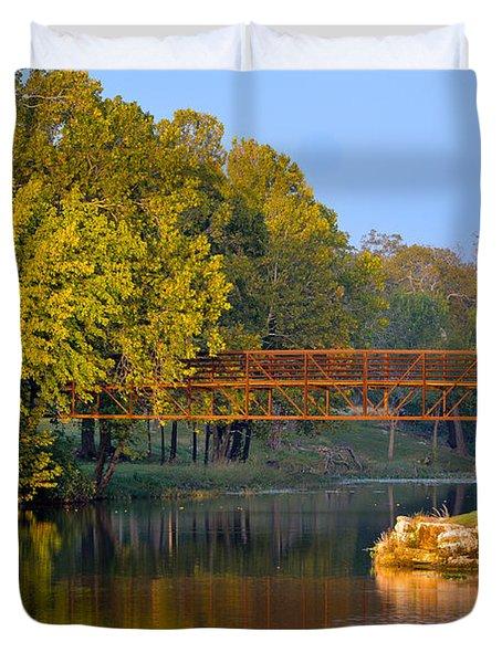 Berry Creek Bridge Duvet Cover
