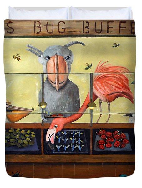 Bert's Bug Buffet Duvet Cover by Leah Saulnier The Painting Maniac