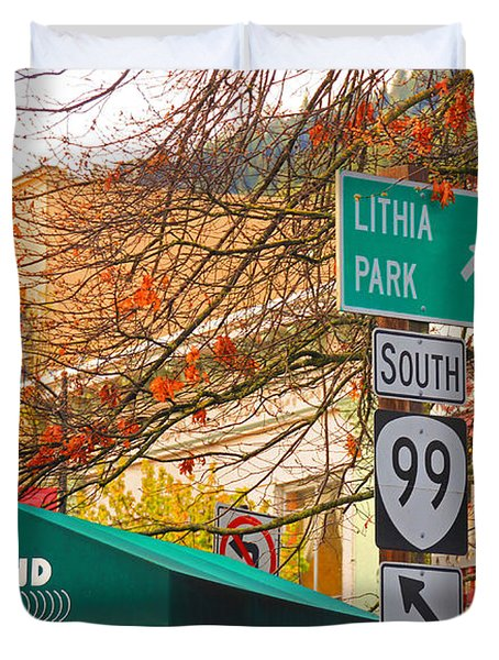 Best Little Town In Oregon Duvet Cover by Kris Hiemstra