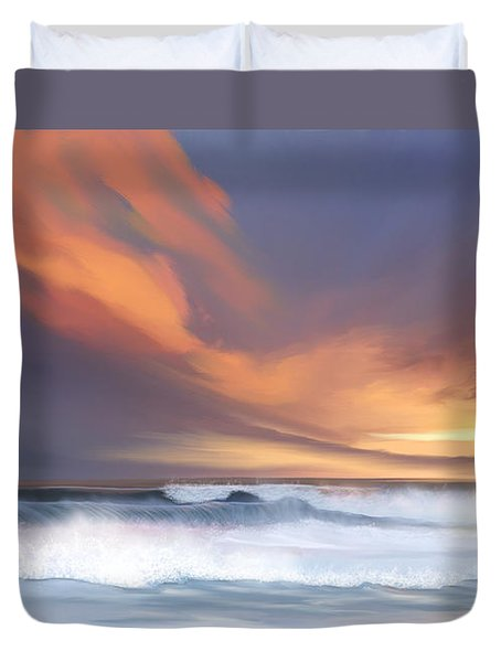 Duvet Cover featuring the digital art Best Of Days by Anthony Fishburne