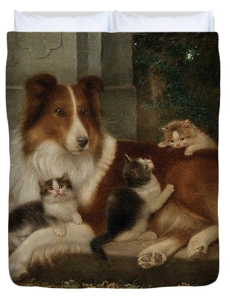 Best Of Friends Duvet Cover by Wilhelm Schwar