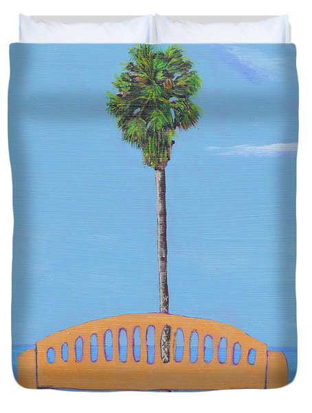 Best Seat In San Clemente Duvet Cover