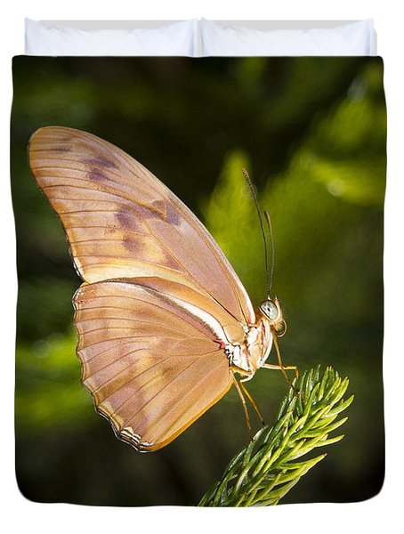 Best Side Of The Butterfly Duvet Cover by Jean Noren