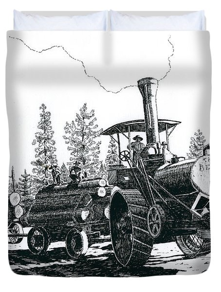 Best Steam Traction Engine Duvet Cover