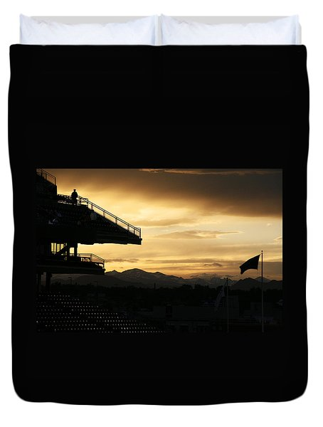 Best View Of All - Rockies Stadium Duvet Cover by Marilyn Hunt
