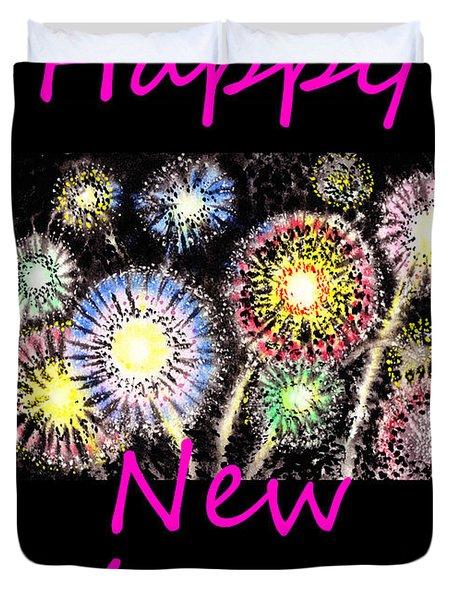 Best Wishes And Happy New Year Duvet Cover by Irina Sztukowski