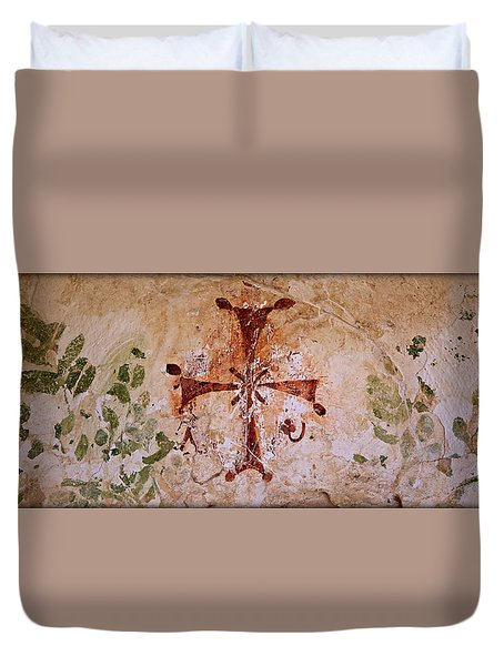 Bet She'an Christian Fresco  Duvet Cover by Stephen Stookey