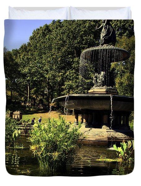 Bethesda Fountain - Central Park 2 Duvet Cover by Madeline Ellis