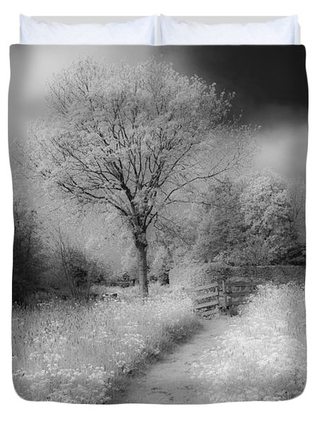 Between Black And White-23 Duvet Cover