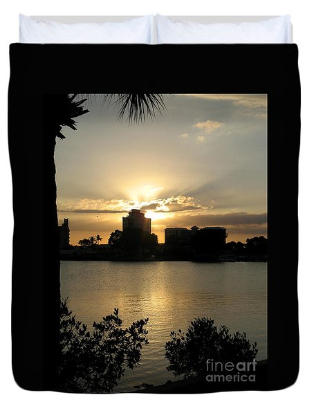 Between Day And Night Duvet Cover by Christiane Schulze Art And Photography